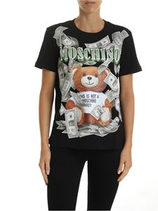 Moschino - Dollar Teddy Bear t-shirt in black