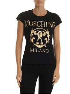 Moschino - Roman Double Question Mark T-shirt in black