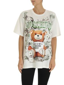 Moschino - Dollar Teddy Bear oversize T-shirt in white
