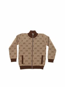 Gucci - Brown and beige cardigan with GG motif