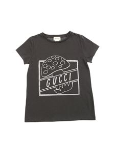 Gucci - Glitter print t-shirt in anthracite color