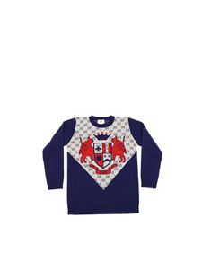 Gucci - GG wool inlay pullover in blue