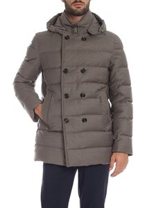 Moorer - Florio double-breasted down jacket in grey