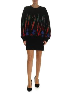 Dsquared2 - Pullover in black with multicolor mohair details