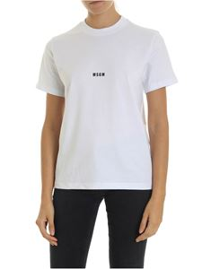 MSGM - T-shirt in white with MSGM print