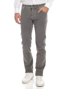 Jacob Cohën - Vintage effect jeans in Dove grey