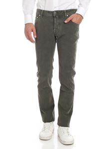Jacob Cohën - Vintage effect trousers in green