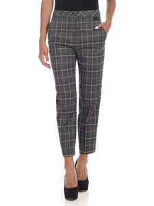 be Blumarine - Dark grey trousers with contrasting tartan pattern
