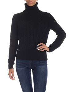 be Blumarine - Black turtleneck with logo