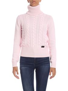 be Blumarine - Pink turtleneck with logo