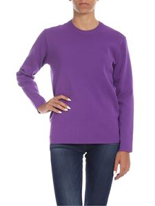be Blumarine - Purple viscose pullover with logo
