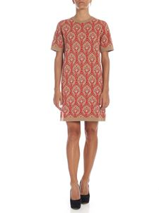 be Blumarine - Beige knit dress with contrasting inlay