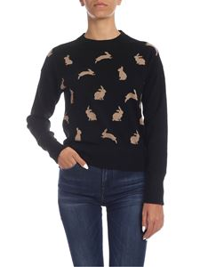 Ballantyne - Black cashmere pullover with inlay