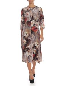 L'Autre Chose - Multicolor silk dress with floral print
