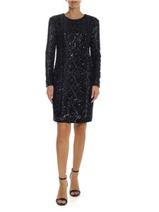 Max Mara - Nicia dress in blue sequins