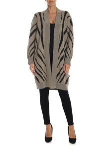 Max Mara - Beige cardigan with zebra pattern