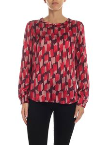 Barba - Purple blouse with pink and fuchsia print