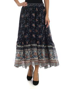 Ulla Johnson - Marina skirt in blue silk and viscose