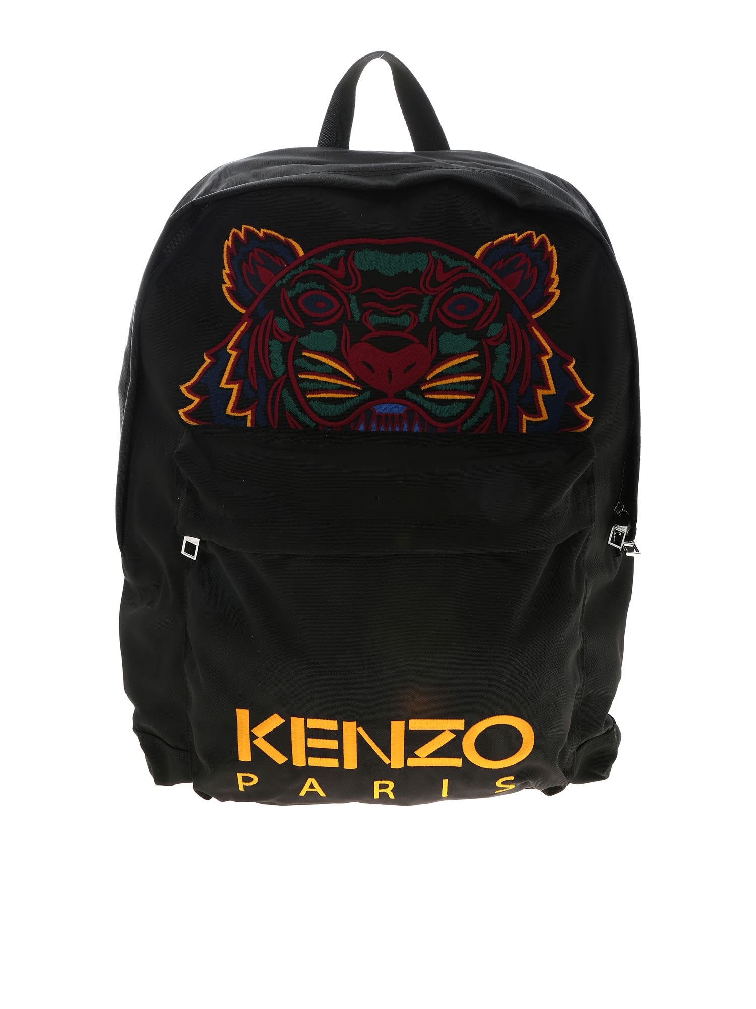Kenzo Xl Tiger Backpack In Black