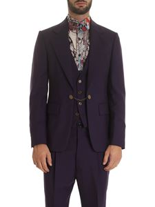 Vivienne Westwood  - Giacca viola con inserto gilet