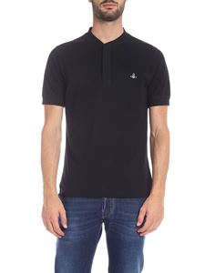Vivienne Westwood  - Black polo with mandarin collar