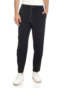 Kenzo - Pantaloni Drawstring Tapered Cropped neri