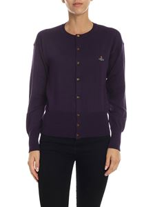 Vivienne Westwood  - Purple cardigan with logo embroidery