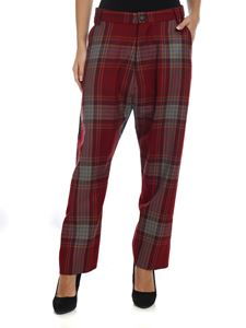 Vivienne Westwood  - Red and green trousers with Tartan pattern