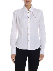 Vivienne Westwood  - White shirt with logo embroidery