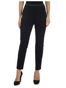Karl Lagerfeld - Black trousers with branded bands