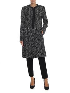 Karl Lagerfeld - Overcoat in textured knitted fabric