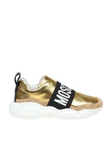 Moschino - Slip on Teddy Run in gold color
