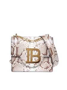 Balmain - B-bag 21 shoulder bag with python print