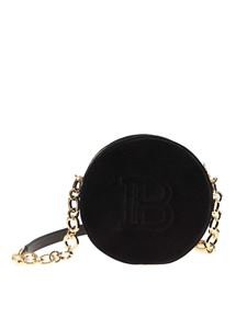 Balmain - Disco shoulder bag in black velvet