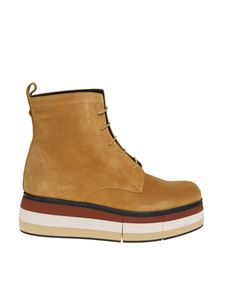 Paloma Barceló - Lionetta suede ankle boots in mustard color