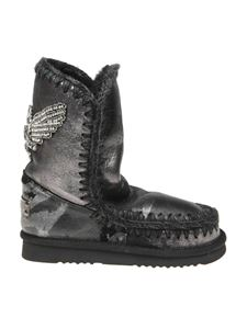Mou - Eskimo 24 sneakers in black with crystal detail