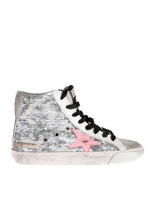 Golden Goose Deluxe Brand - Sneakers Francy in silver sequins