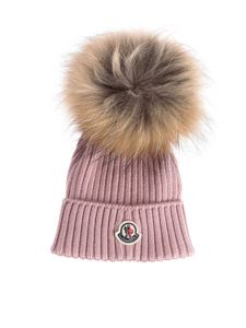 Moncler Jr - Pink virgin wool beanie