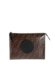 Fendi - Fendi Stamp pouch in shades of brown