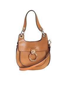 Chloé - Hobo Tess bag in Autumnal Brown color leather
