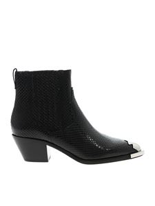 Ash - Floyd ankle boots in reptile print leather