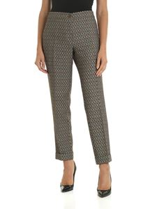 Etro - Beige jacquard trousers with ethnic pattern