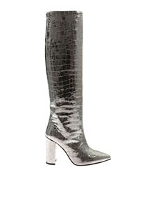 Paris Texas - Metallic silver-colored boot