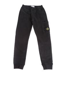 Stone Island Junior - Black cotton pants