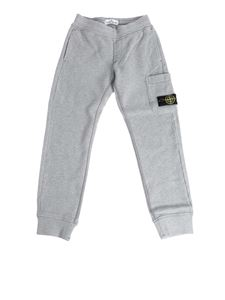 Stone Island Junior - Grey cotton pants