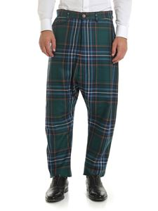 Vivienne Westwood  - Green trousers with tartan pattern