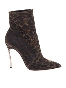 Casadei - Blade Leo Metal ankle boots