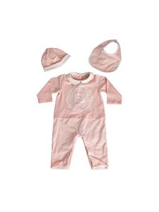 Fendi Jr - Set neonata in jersey di cotone rosa