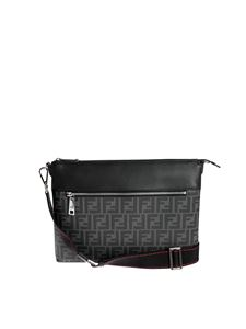Fendi - Messenger bag with FF motif in black