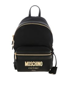 Moschino - Black backpack with LETTERING logo